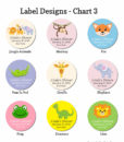 label design chart 3 baby shower