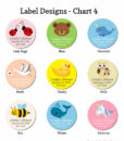 label design chart 4 baby shower