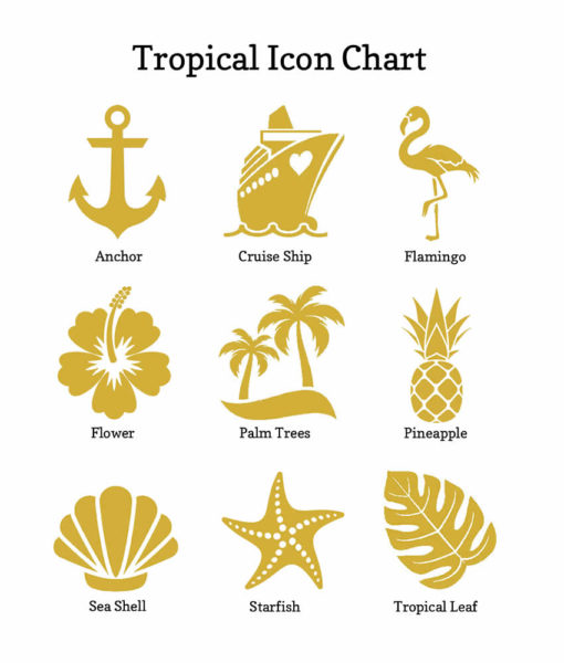 tropical icon chart