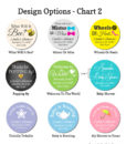 water bottle design chart 2 baby shower