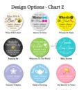 water bottle design chart 2 baby shower