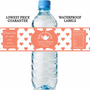 water bottle labels - baby is brewing