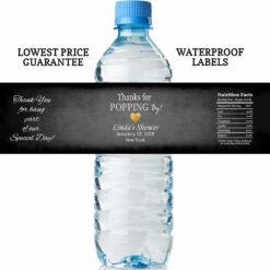 water bottle labels - chalk