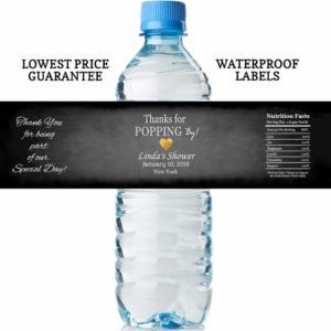 water bottle labels - chalk