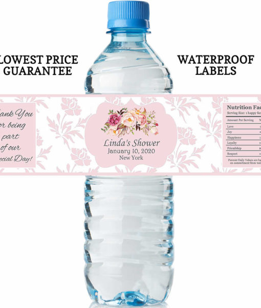 water bottle labels floral