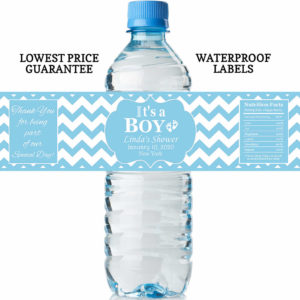 water bottle labels - it's a boy