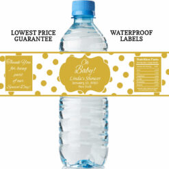 water bottle labels - oh baby