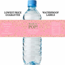 water bottle labels - ready to pop