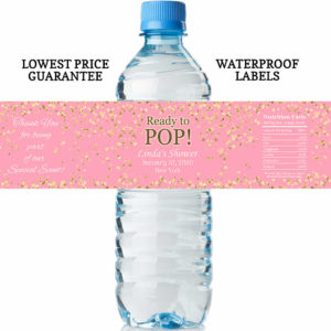 water bottle labels - ready to pop