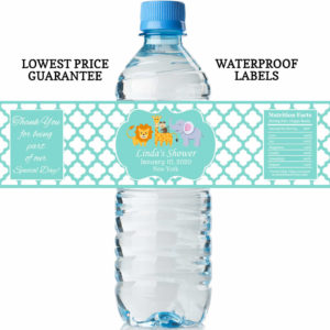 safari water bottle labels