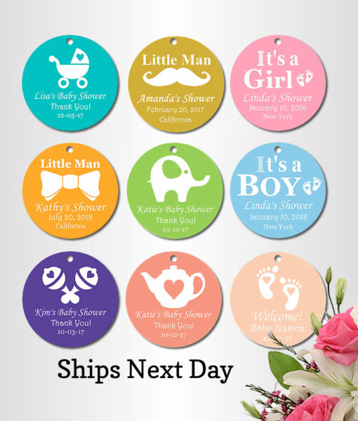 personalized baby shower favor tags