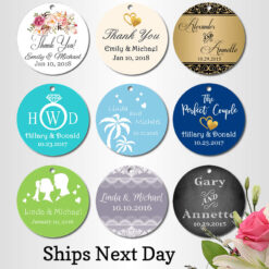 printed tags for wedding favors