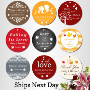 personalised wedding tags