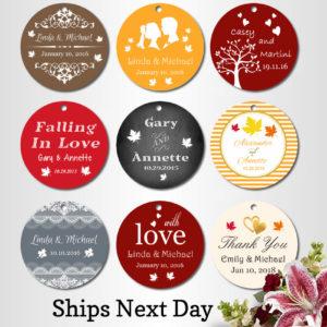 personalised wedding tags