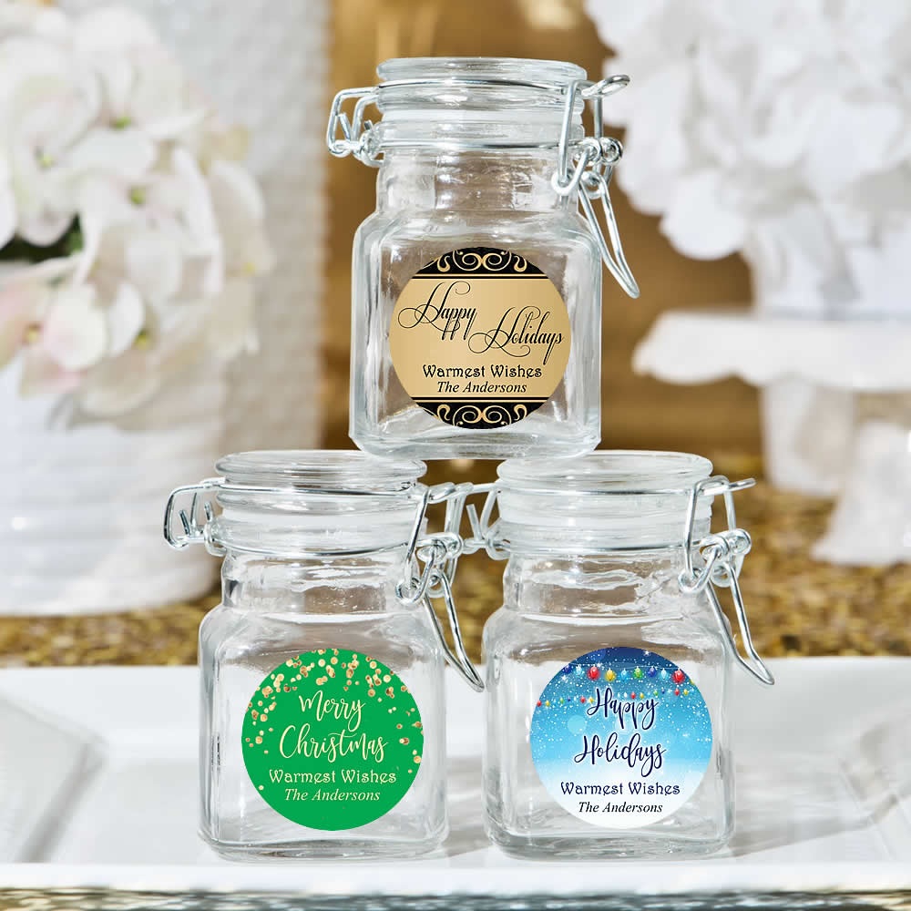 Personalized Apothecary Jar Holiday Favors Free Embly