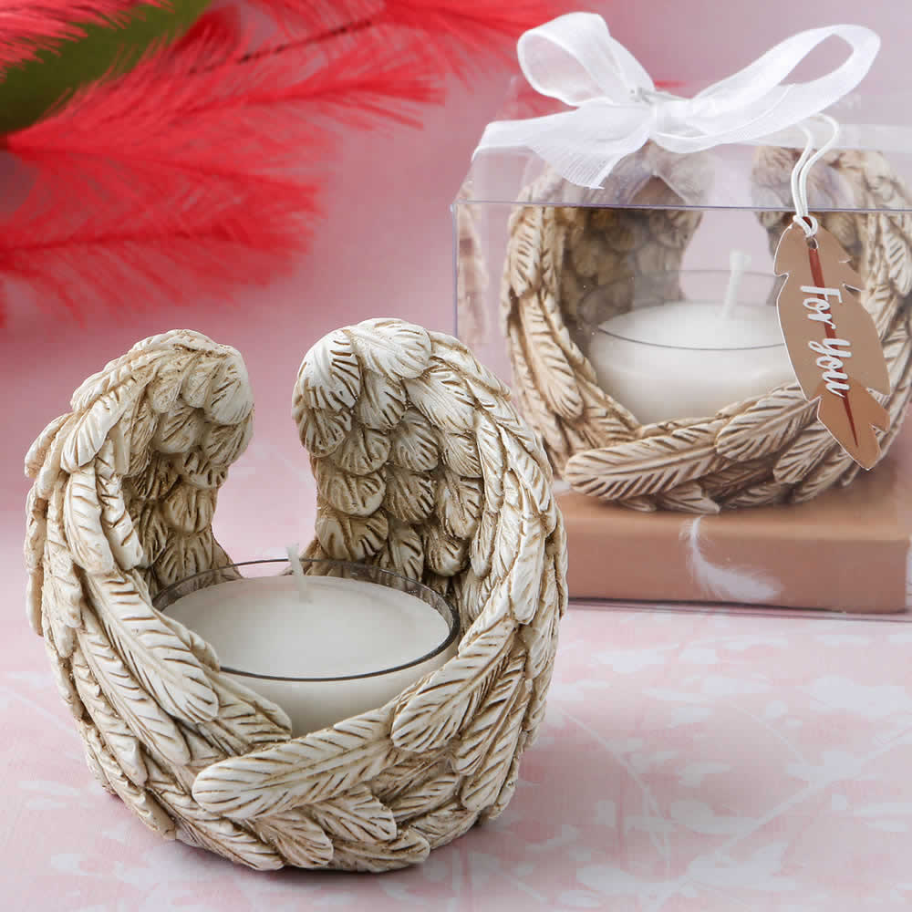 Guardian Angel Wings Tealight Candle Holder Free Rush
