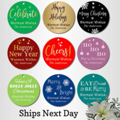 christmas party favors tags