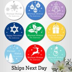 christmas party favors tags silhouette