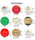 holiday favors tags