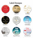 holiday label design chart