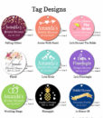 bridal shower tag designs