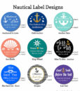 nautical bridal shower label designs