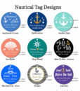 nautical bridal shower tag designs