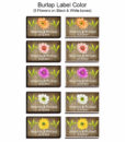 Match Box burlap Labels