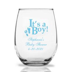 it's a boy wine glasses