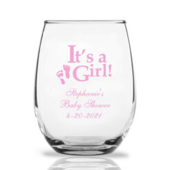 it's a girl wine glasses
