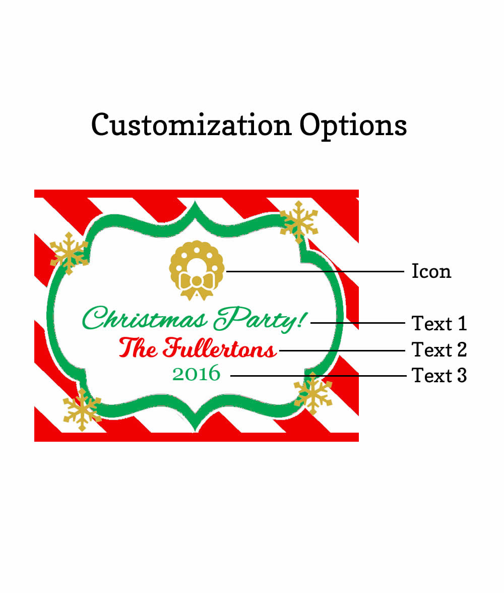 Christmas Water Bottle Labels LOWEST Price Water Proof