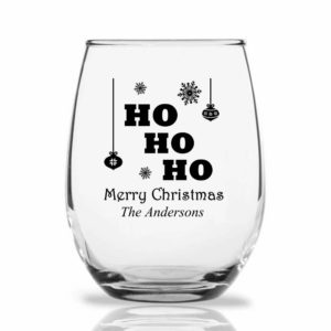 ho ho ho wine glass