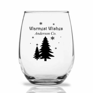 pine trees wine glass