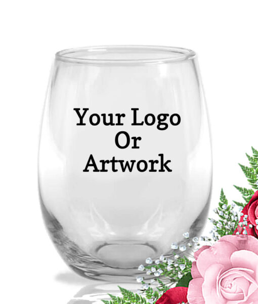 your logo custom wine glasses