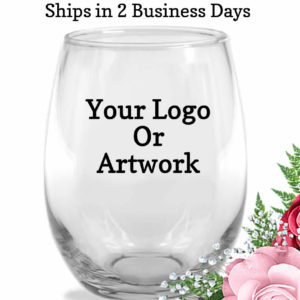 your logo custom wine glasses