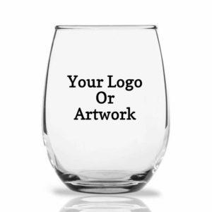 your logo wine glass