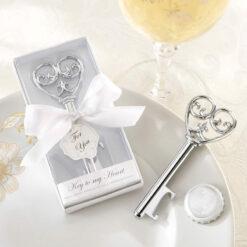 skeleton key bottle opener wedding favors