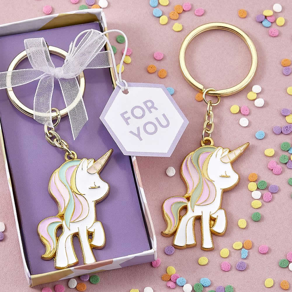 Unicorn Metal Keychain Free Rush With Custom Tags