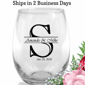 initial monogram wedding-wine-glasses