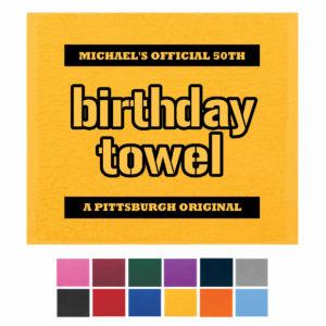 Steelers 50th birthday towel