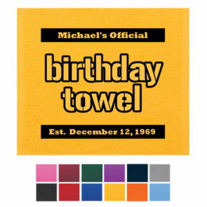 Birthday Terrible Towel, Birthday Rally Towels