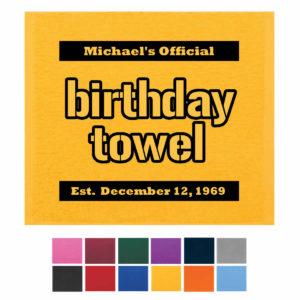 Birthday Terrible Towel, Birthday Rally Towels