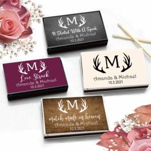 antler monogram match boxes