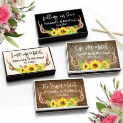 antler sunflower match boxes