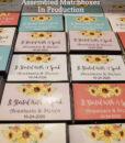 assembled matchboxes sunflower