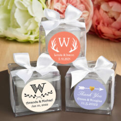 cube candle silhouette designs