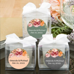 fall floral cube candle