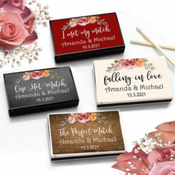 fall floral match boxes