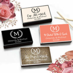 laurel monogram match boxes