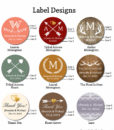 rustic label design options